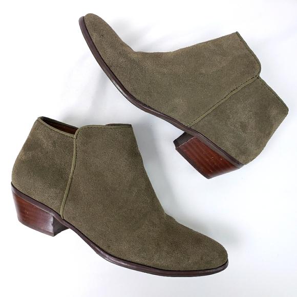 Crown Vintage Gray & Brown Faux Suede Booties